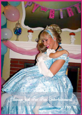Cinderella Being Hugged By Little Princess