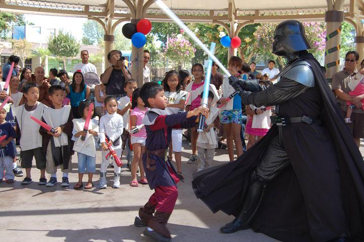 Epic Star Wars Light Saber Battle