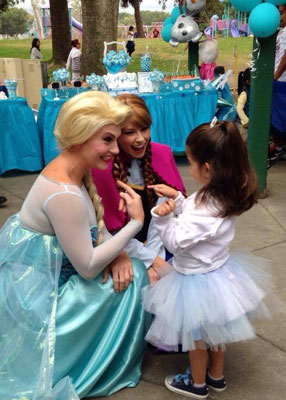 Elsa and Anna with Little Princess