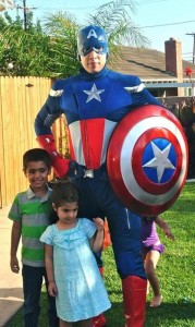 Captain America with Kids