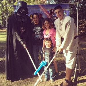 Darth Vader And Luke Skywalker with Family