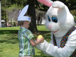 Easter Bunny with Boy
