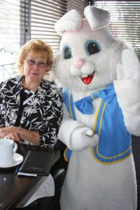 Easter Bunny with Lady