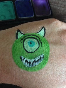 Body Painting Monsters Inc