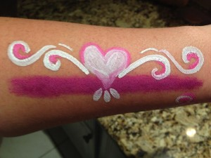 Face Painting Pink Heart