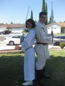 Princess Leia and Luke Skywalker Jedi