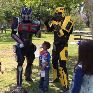 Transformers Optimus Prime and Bumble Bee