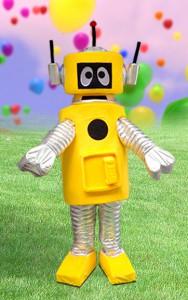 Yellow Dancing Robot